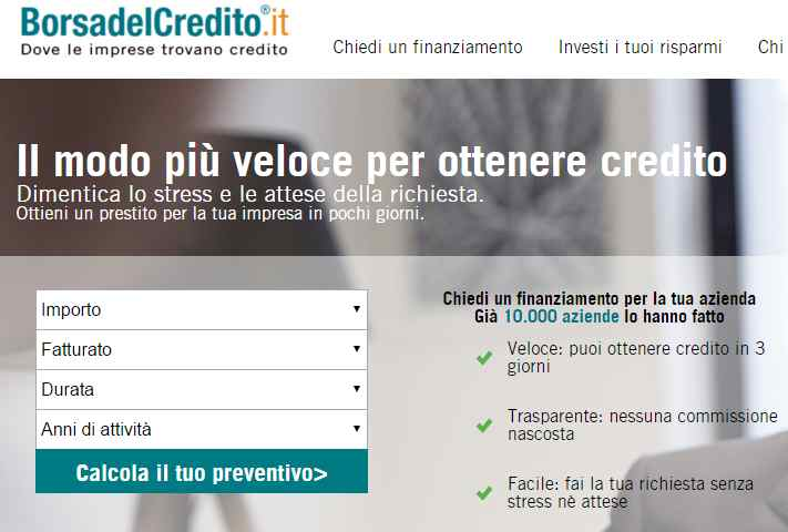 P101 investe un milione di euro in BorsadelCredito.it