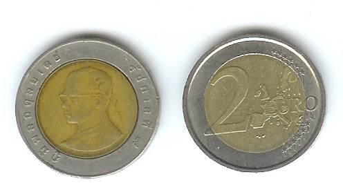 Monete truffa thailandesi da due euro