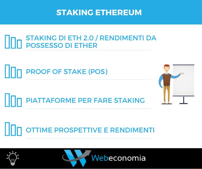 Staking Ethereum Infografica