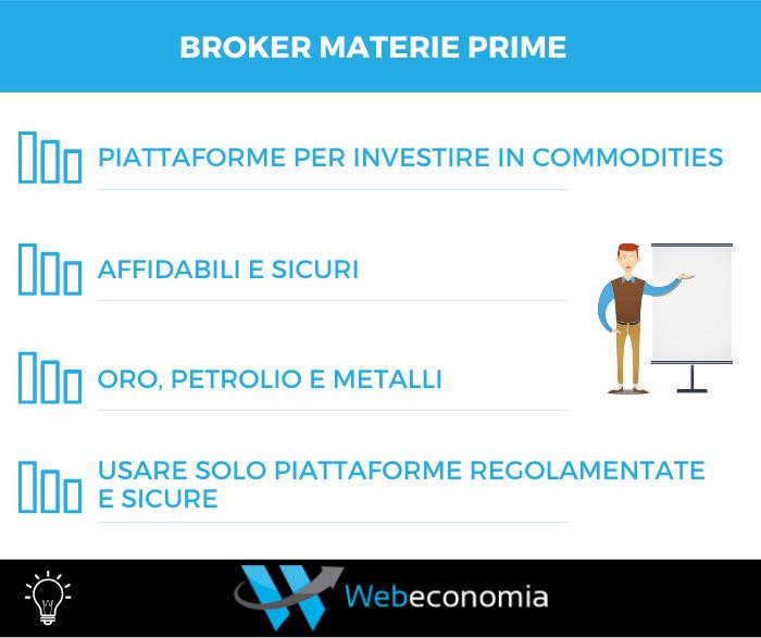 Broker materie prime - Riepilogo